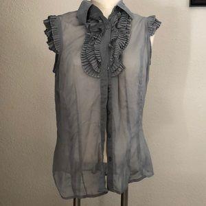 ❄️❄️Grey sheer blouse ❄️❄️